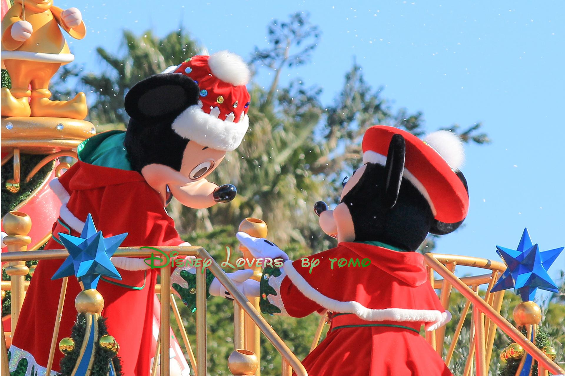 クリスマスイブ ラブラブミキミニpart1 サンタヴィレッジパレード ディズニーリゾートライフのブログ